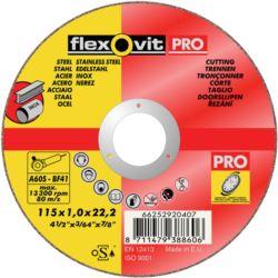 TARCZA STAL WĘGL/INOX FLEXOVIT 115X1,00 A60S T41